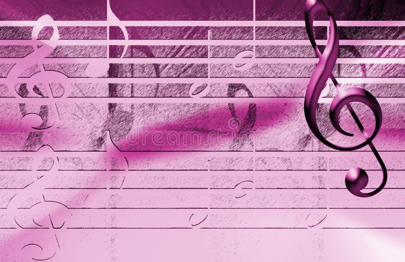 Fond rose de musique illustration de vecteur