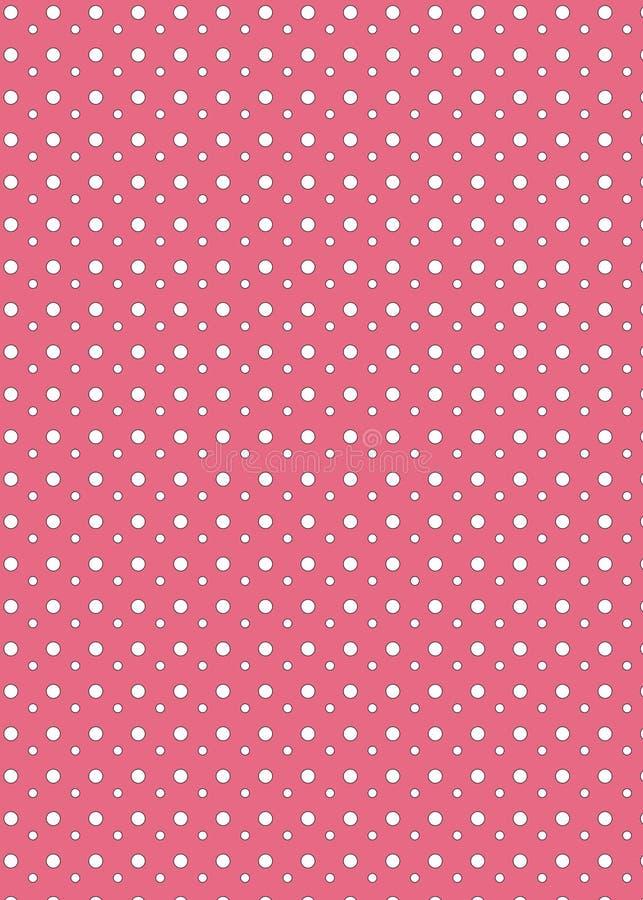 Fond rose de point de polka photographie stock libre de droits