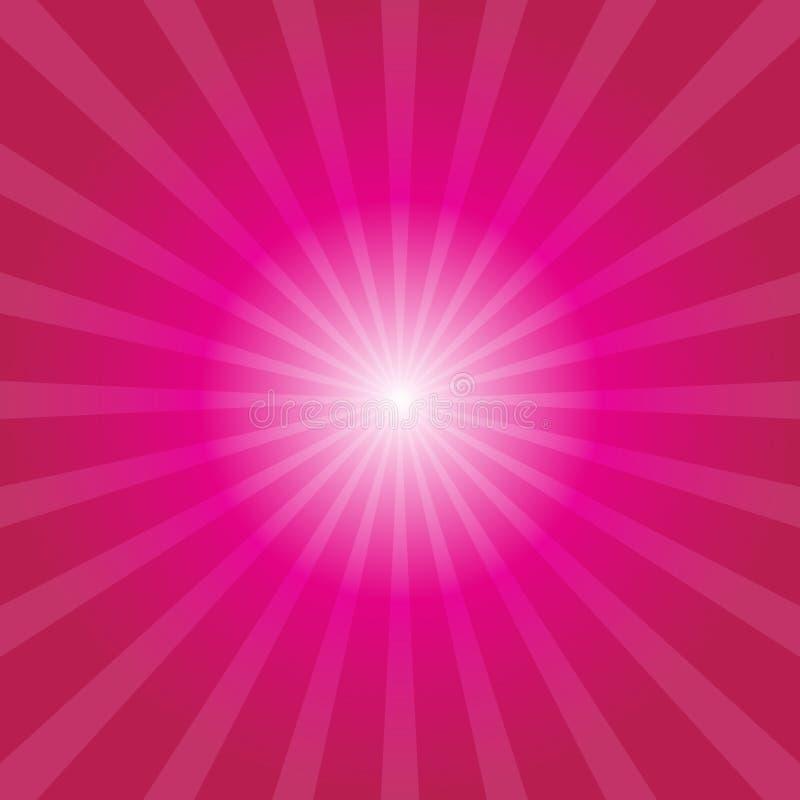 Fond rose de rayon de soleil illustration stock