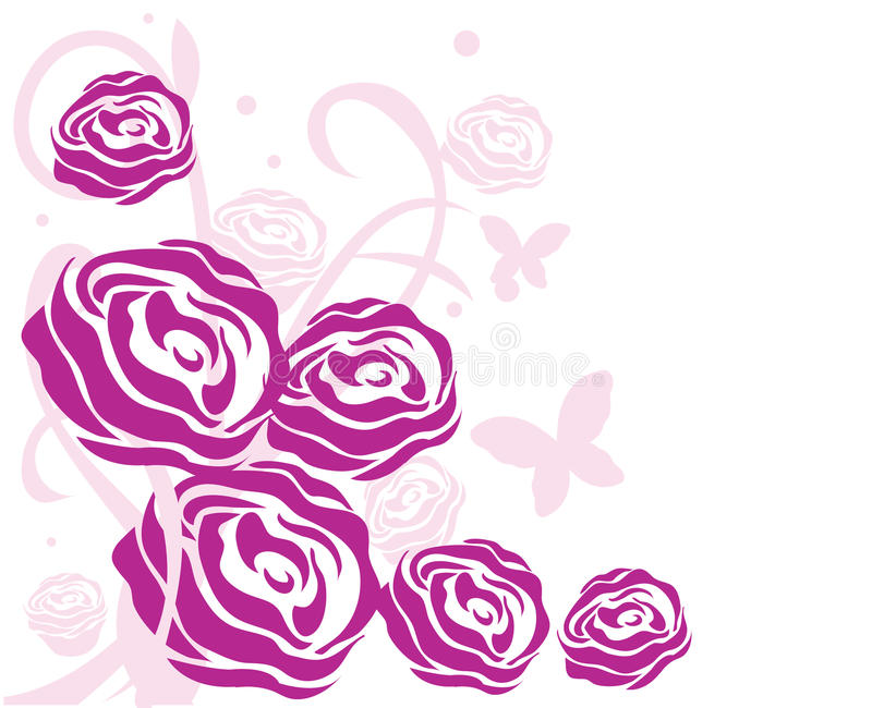 Fond rose de roses illustration libre de droits