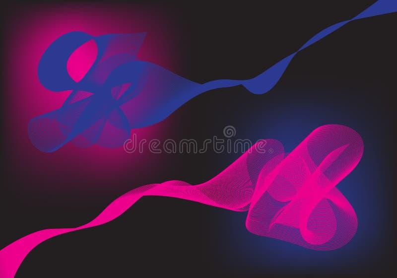 Fond rose et bleu abstrait illustration de vecteur