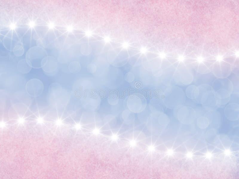 Fond rose et lilas abstrait avec des étoiles illustration libre de droits