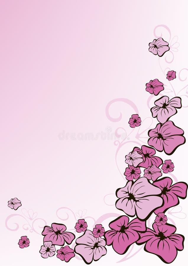 Fond rose floral illustration libre de droits