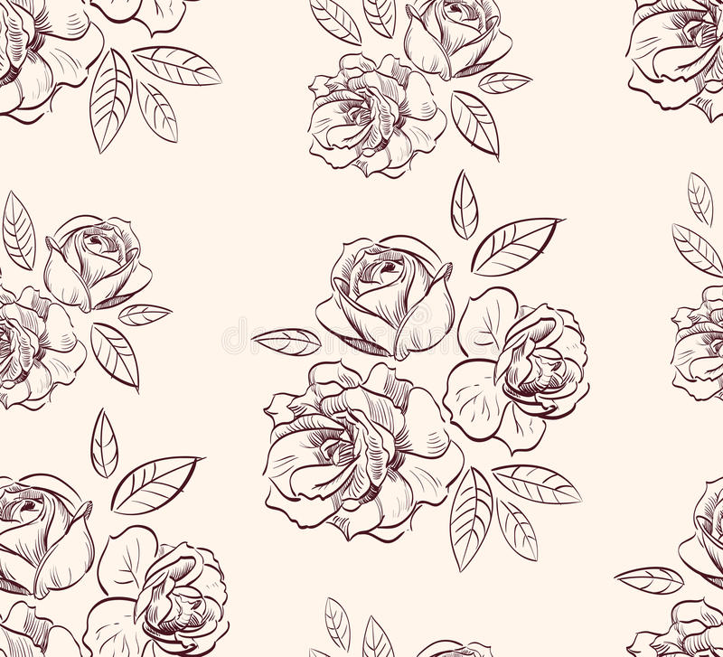 Fond rose floral de cru illustration stock
