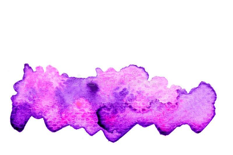 Fond rose pourpre d'aquarelle illustration stock