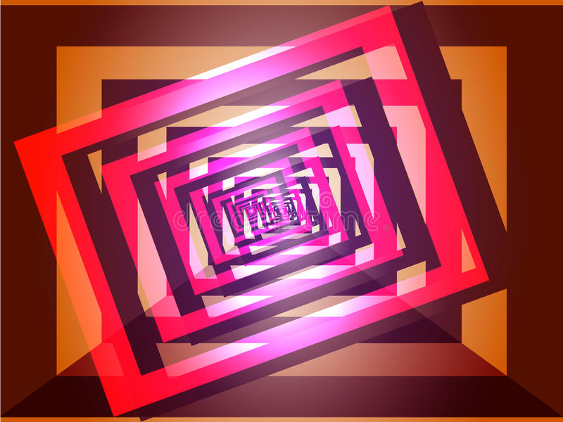 Fond rose-pourpre géométrique abstrait image stock