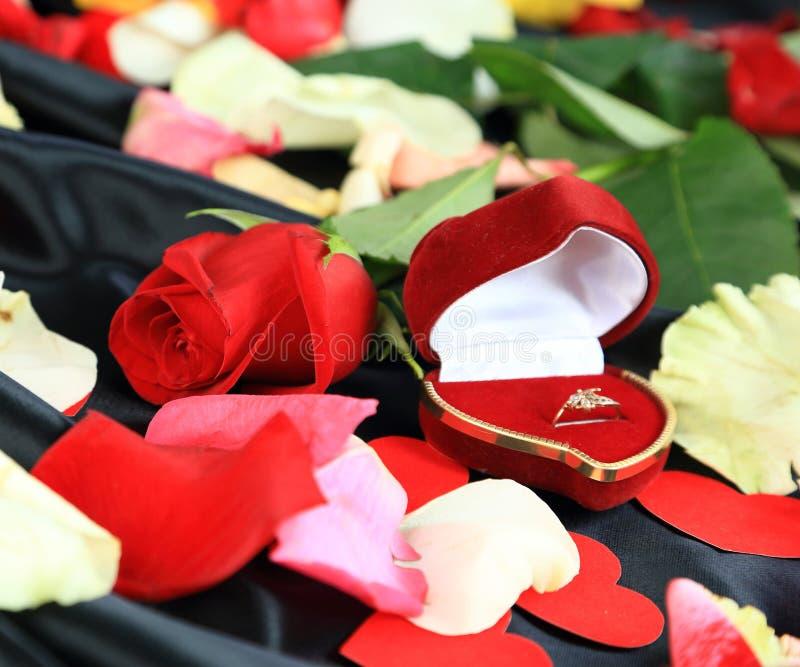 Amour romantique de Saint-Valentin photographie stock
