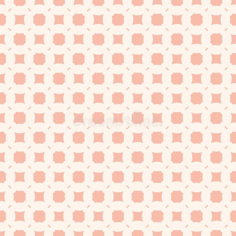 Fond rose subtil Modèle sans couture géométrique de vecteur avec les figures simples illustration stock