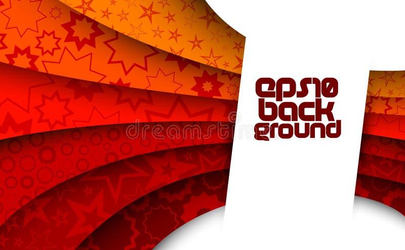 Fond rouge abstrait avec des étoiles illustration libre de droits