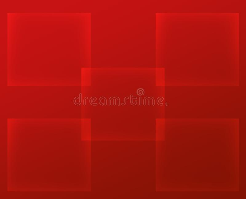 Fond rouge abstrait avec des places illustration de vecteur