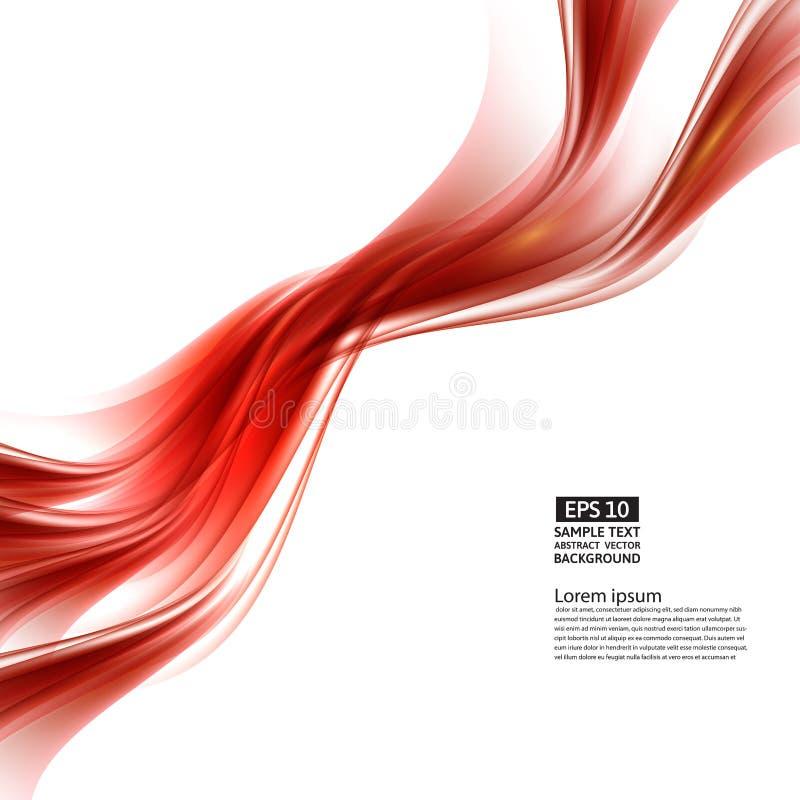 Fond rouge abstrait avec le modèle géométrique des lignes Vague et déformation des formes illustration libre de droits