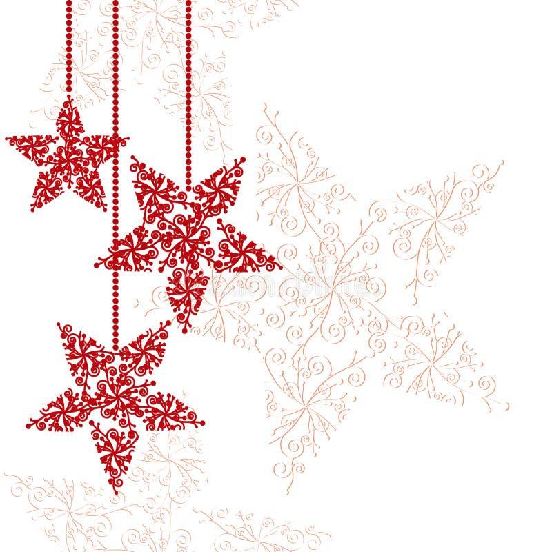 Fond rouge abstrait d'étoile de Noël illustration de vecteur