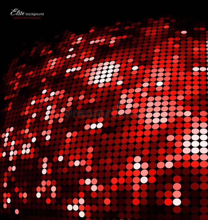 Fond rouge abstrait de scintillement de mosaïque illustration libre de droits