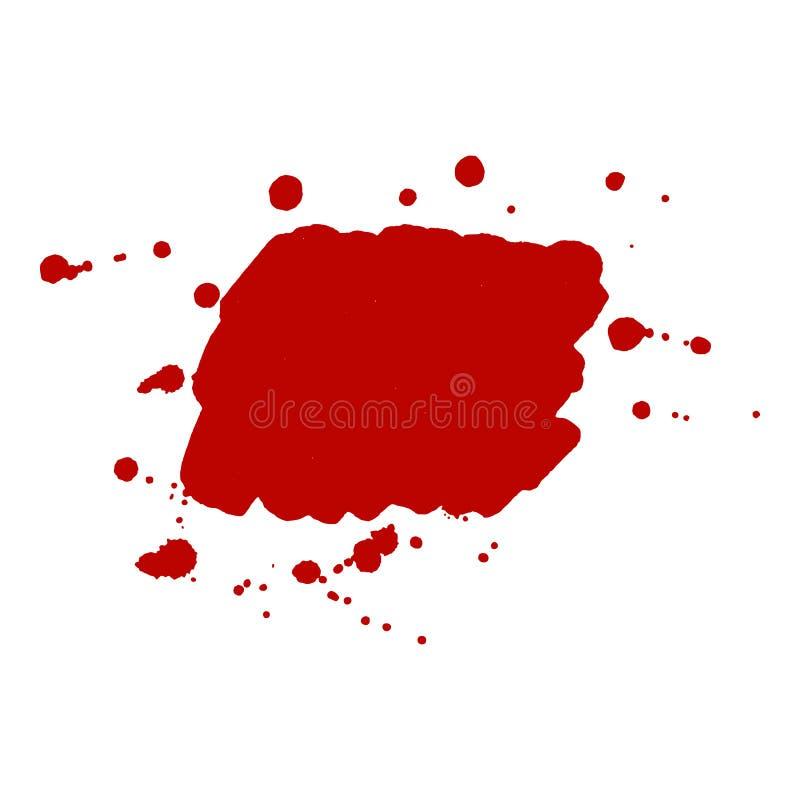 Fond rouge abstrait de tache d'encre Silhouette de tache de sang Illustration de vecteur illustration de vecteur