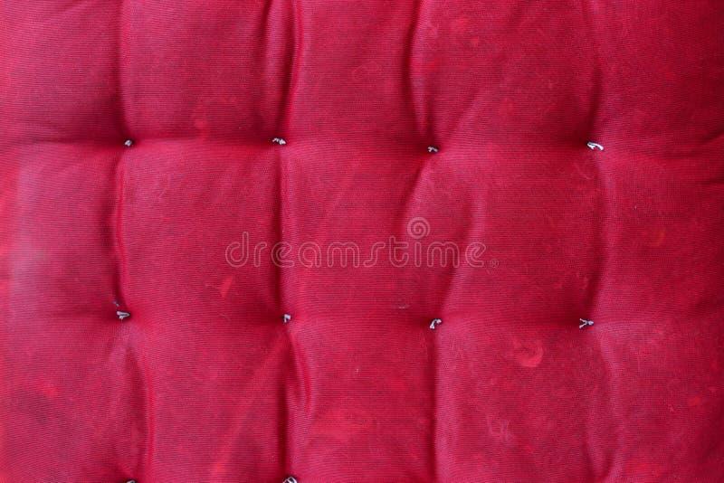 Fond rouge abstrait de texture de coussin photo libre de droits