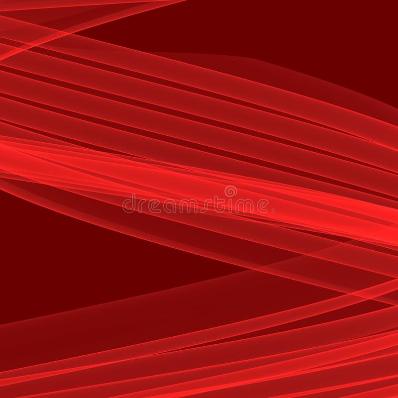 Fond rouge abstrait Lignes rouges lumineuses Modèle géométrique dans des couleurs rouges illustration libre de droits