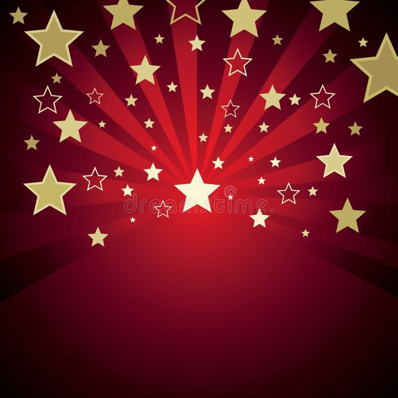 Fond rouge avec des étoiles illustration de vecteur