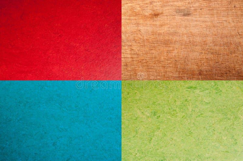 Fond rouge, bleu, vert ou en bois de cru illustration libre de droits