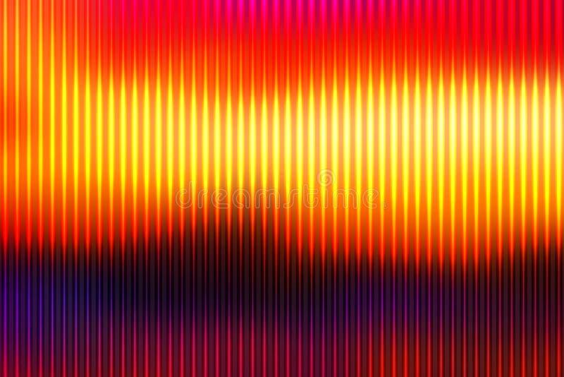 Fond rouge-brun pourpre de jaune orange avec les lignes légères illustration stock