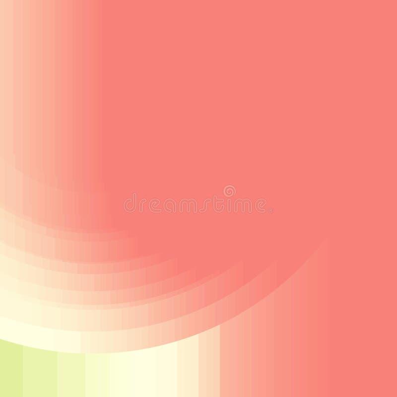 Fond rouge-clair abstrait avec des arcs et des rayures illustration stock