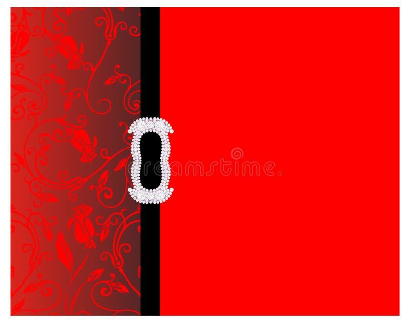 Fond rouge décoratif illustration de vecteur