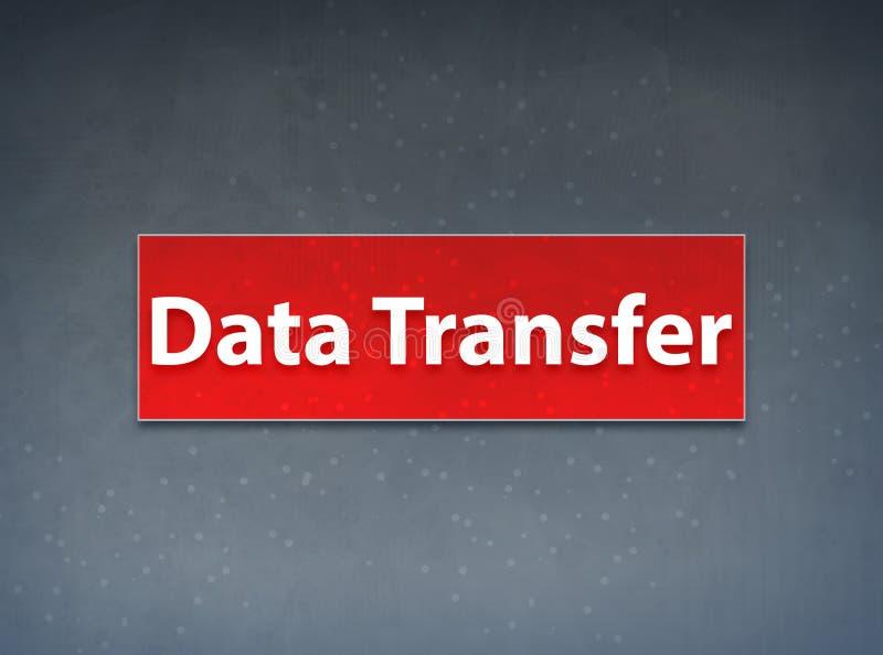 Fond rouge d'abrégé sur bannière de transfert des données illustration stock