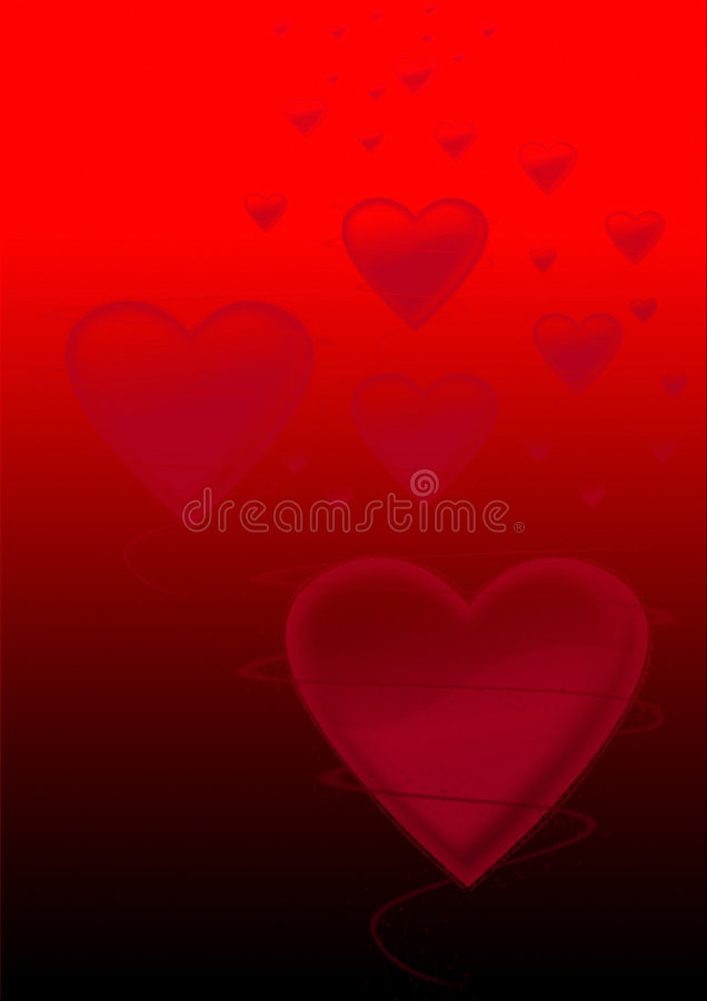 Fond rouge d'amour images stock