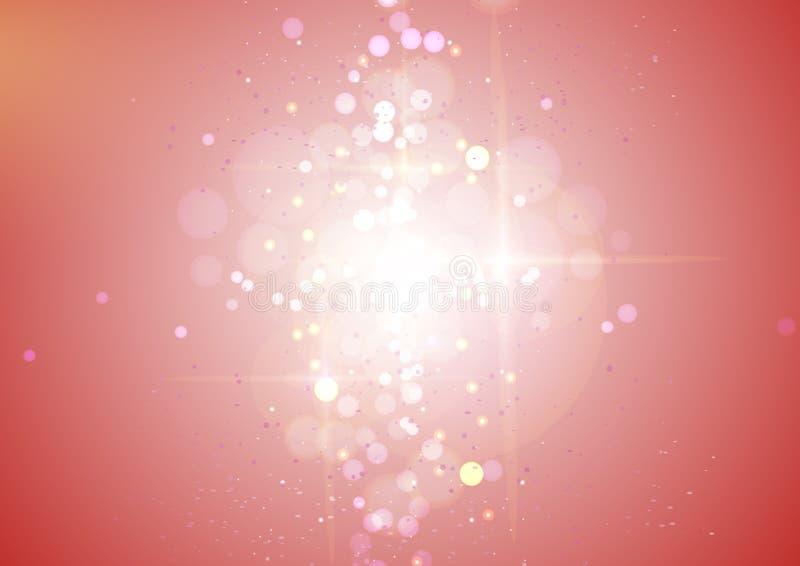 Fond rouge d'effet de bokeh de gradient d'imagination illustration de vecteur