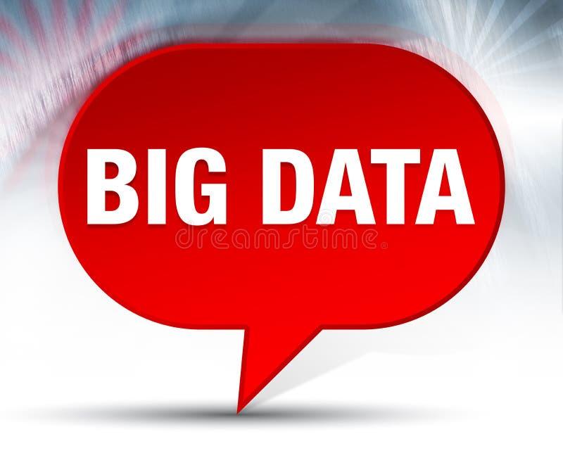 Fond rouge de bulle de Big Data illustration libre de droits