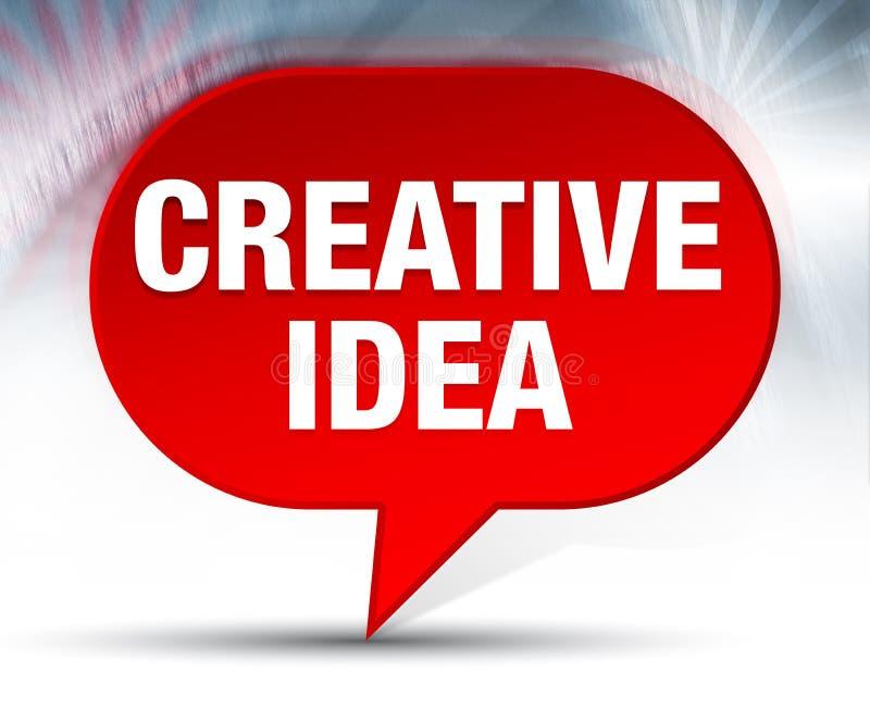 Fond rouge de bulle d'idée créative illustration de vecteur