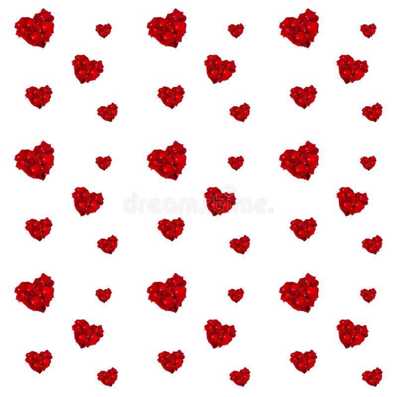 Fond rouge de coeurs photos libres de droits