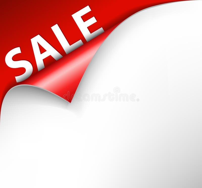 Fond rouge de coin de vente illustration de vecteur