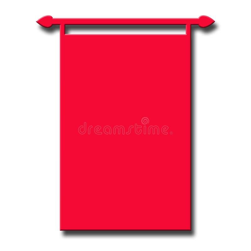 Fond rouge de drapeau illustration libre de droits
