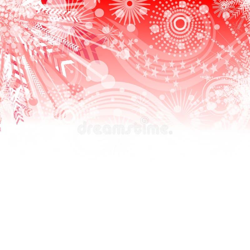 Fond rouge de flocon de neige illustration de vecteur