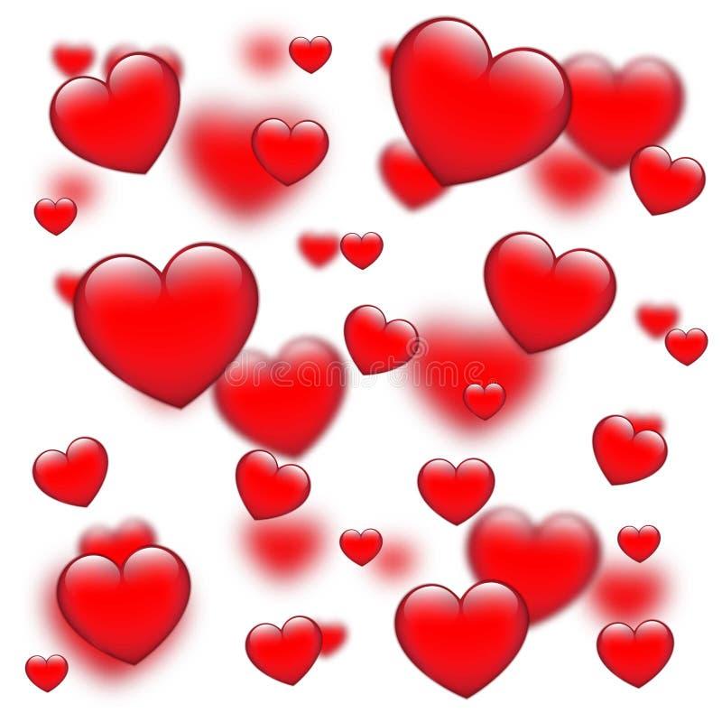 Fond rouge de jour du ` s de Valentine illustration stock
