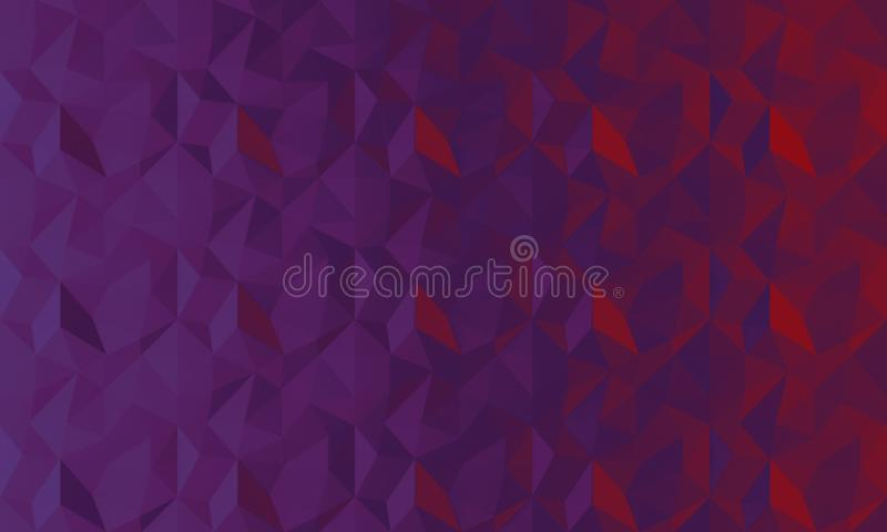 Fond rouge de lilas pourpre géométrique de résumé Dessin géométrique, calibre pour la disposition, site Web, fond créatif des pol photo stock