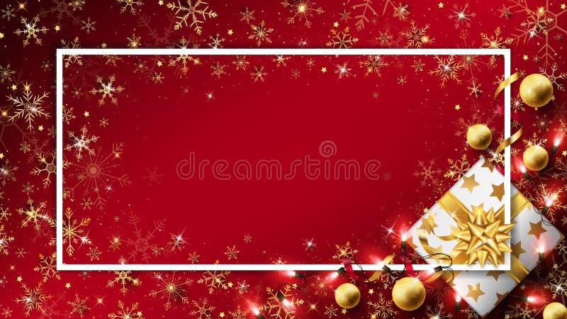 Fond rouge de luxe de Noël illustration de vecteur