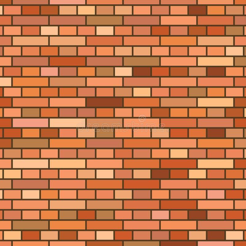 Fond rouge de mur de briques illustration stock