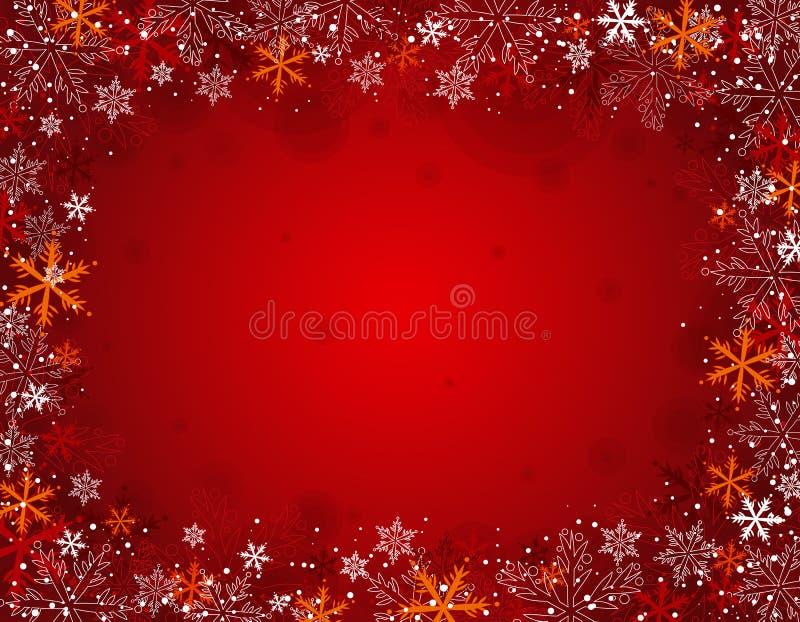 Fond rouge de Noël,   illustration de vecteur