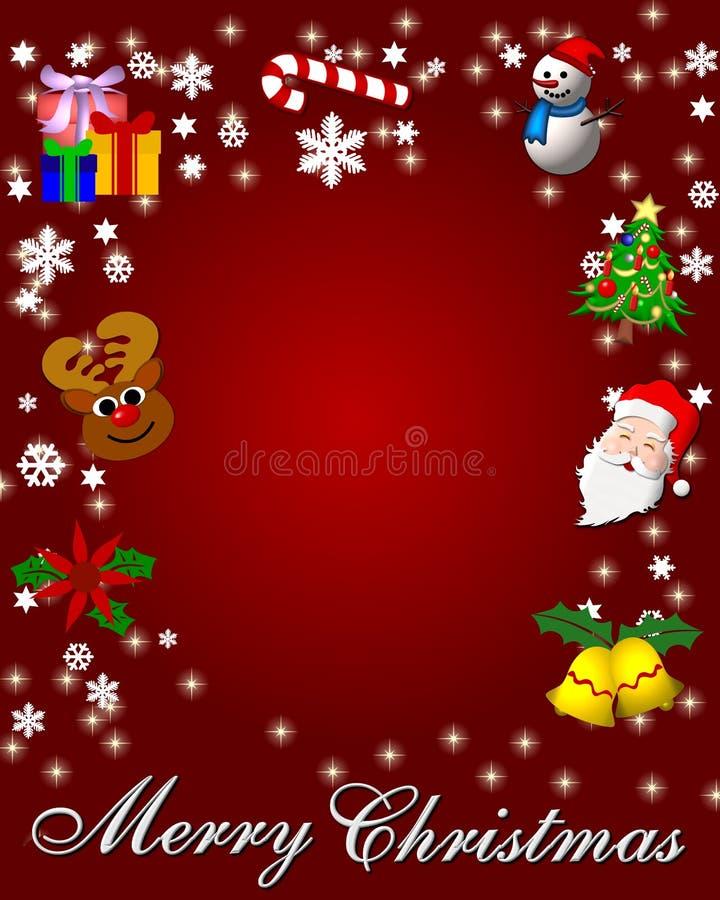 Fond rouge de Noël illustration de vecteur