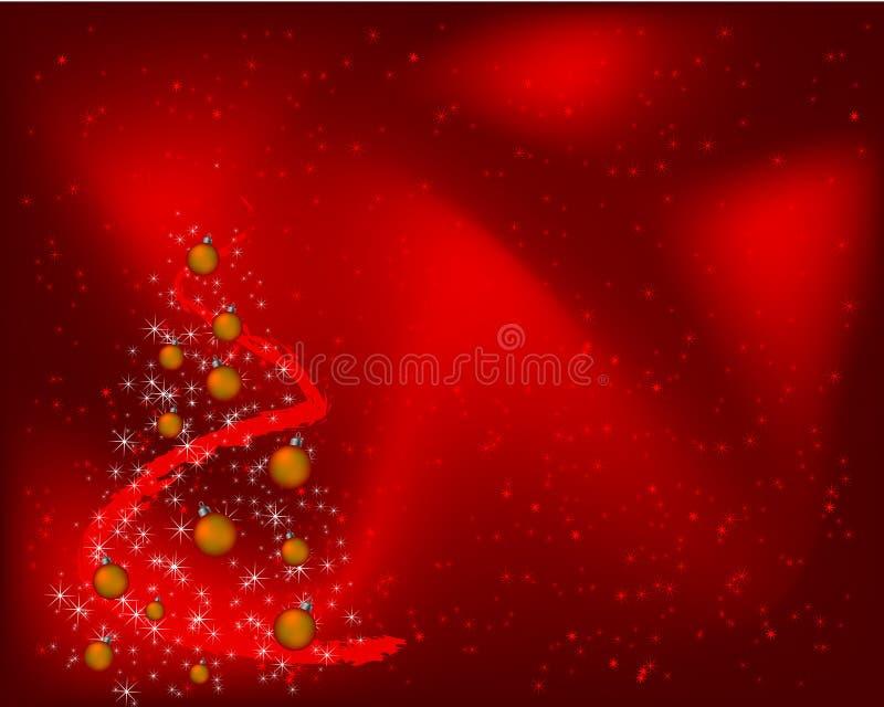 Fond rouge de Noël avec des décorations illustration de vecteur