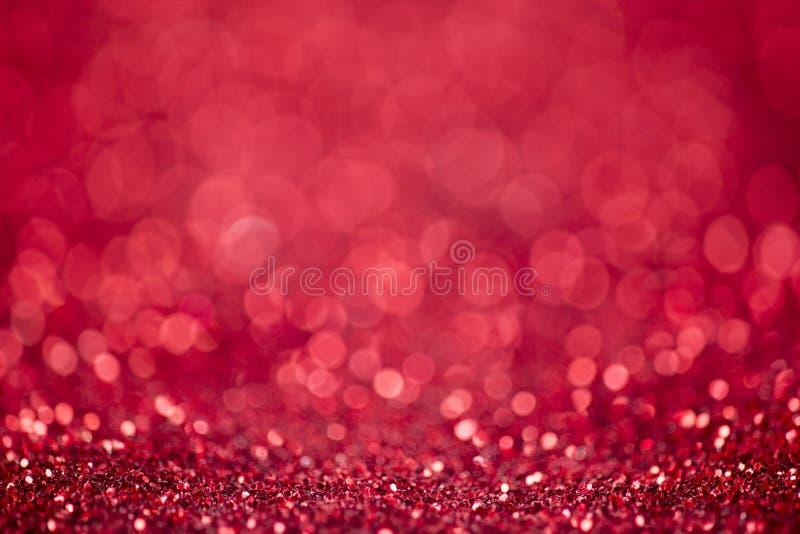 Fond rouge de Noël de scintillement images stock