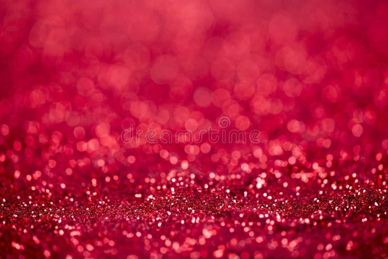 Fond rouge de Noël de scintillement images libres de droits