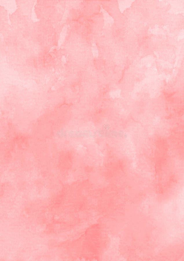 Fond rouge de papier de texture d'aquarelle d'encre images libres de droits