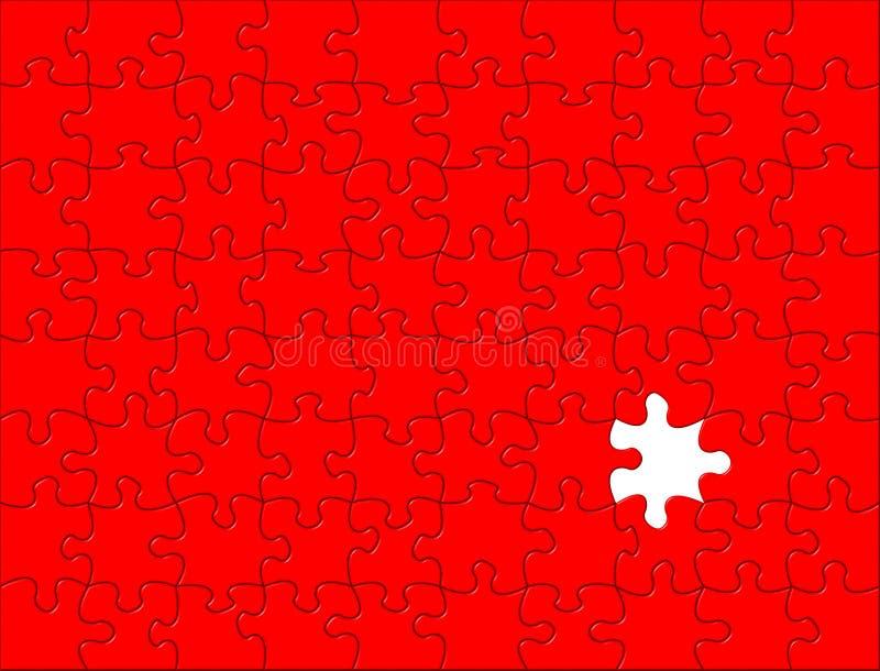 Fond rouge de puzzle illustration de vecteur