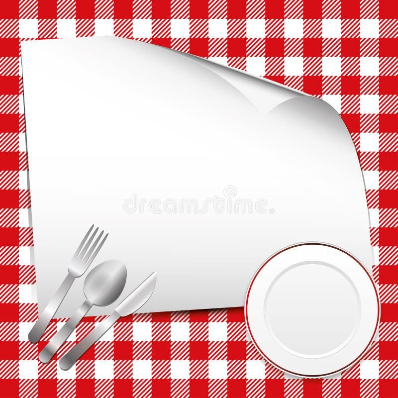 Fond rouge de restaurant illustration de vecteur