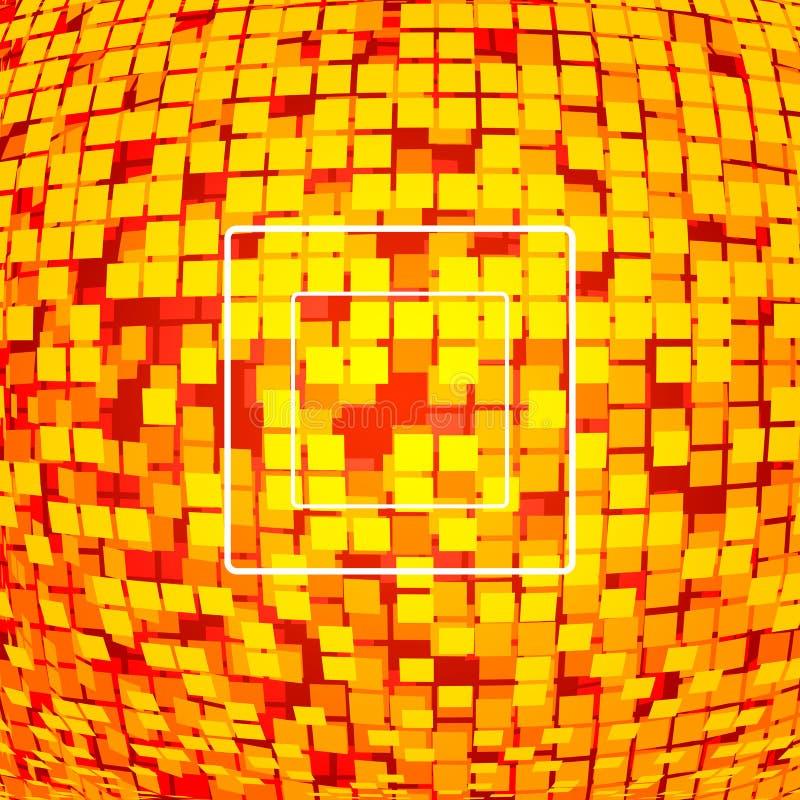 Fond rouge de technologie de Pixel illustration de vecteur