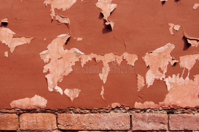 Fond rouge de texture de mur image stock
