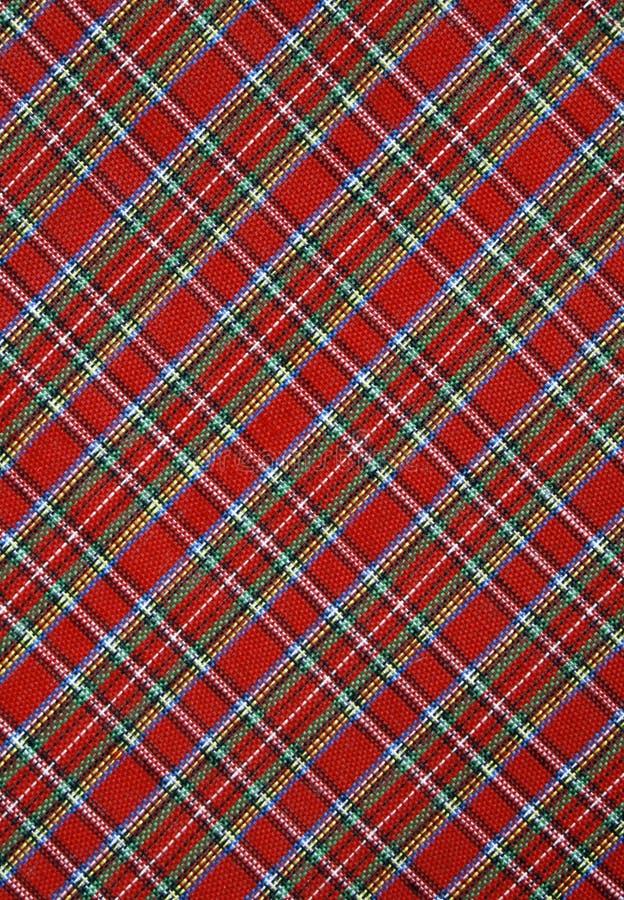 Fond rouge de tissu de plaid photographie stock libre de droits