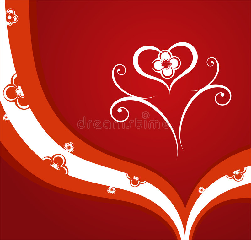Fond rouge de valentines illustration de vecteur